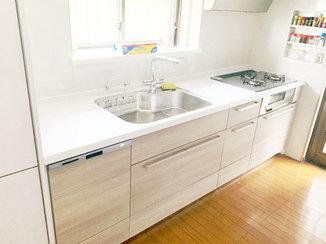 キッチンリフォーム 調理環境を大きく改善したキッチン