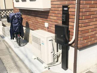 エクステリアリフォーム 自転車置き場と安心して使える鍵付きのポスト