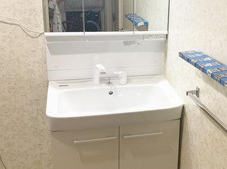 洗面リフォーム 大型ボウルが使いやすい洗面台