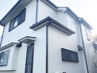 外壁・屋根リフォーム ひび割れを補修し、強度を上げた外壁