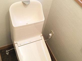 トイレリフォーム 空間をすっきりさせたトイレ