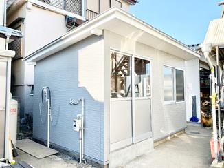 増改築リフォーム スッキリ快適に使える洗濯小屋