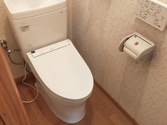 トイレリフォーム 違和感なく本体のみを取り替えたトイレ