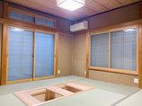 内装リフォーム大きな掘りごたつと床暖房のある和室