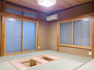 内装リフォーム 大きな掘りごたつと床暖房のある和室